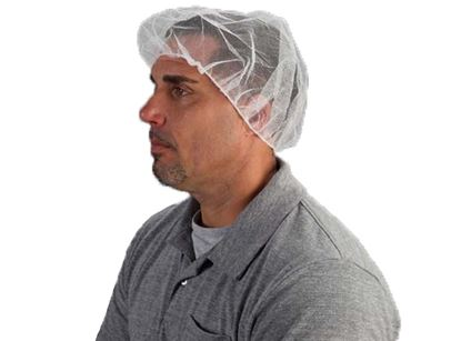 Picture of 24 Inch White Nylon Hair Net