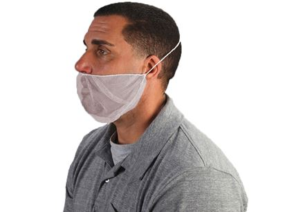 Picture of White Nylon Beard Cover - Universal Size