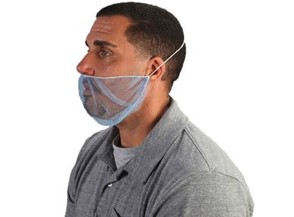 Picture of Blue Nylon Beard Cover - Universal Size