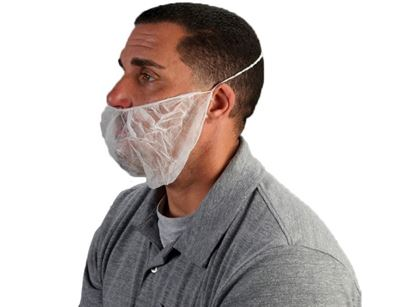 Picture of White Beard Covers - Spunbond Polypropylene