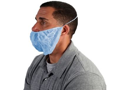 Picture of Blue Nylon Beard Covers - Spunbound Polypropylene