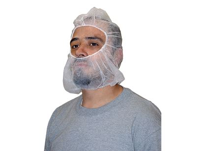 Picture of Beard and Hair Cover Combos - 21 Inches White