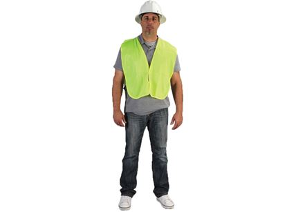Picture of Lime Green Polyester Vest - Elastic Sides