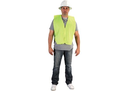 Picture of Lime Green Polyester Vest - String Side Ties