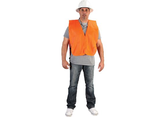 Picture of Orange Knit Polyester Vests - Elastic Sides and Velcro Front