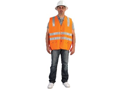 Picture of Class 2 Orange Safety Vest - Two Individual Chest Pockets