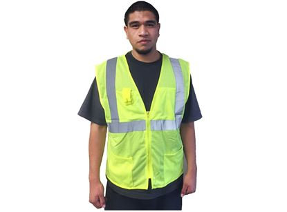 Picture of Class 2 Lime Green Safety Vest - Mesh Material