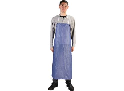 Picture of Blue Aprons with Adjustable Strings - 6 mil 35 x 45 Inches