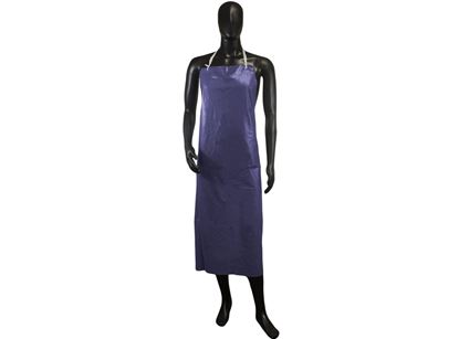 Picture of Blue Aprons with Adjustable Strings - 8 mil 35 x 45 Inches