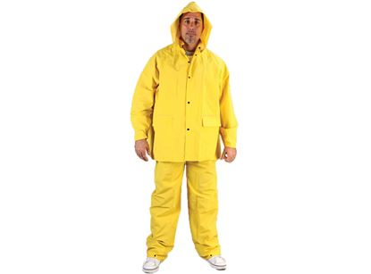 Picture of Yellow PVC Rain Suit - Three Piece 3 - 4X
