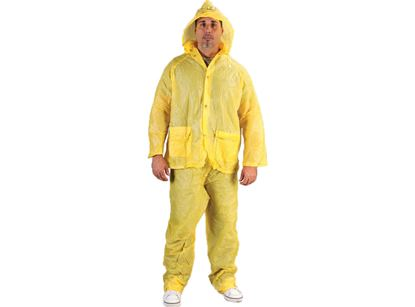 Picture of Yellow PVC Rain Suit - Elastic Waist Pants .10 mm