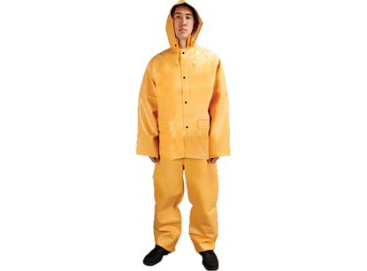 Picture of Heavy Weight Yellow PVC on Rayon Rain Suit 2 - 3X