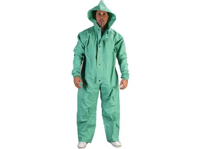 Picture of Green PVC/Nylon Coverall - One Piece