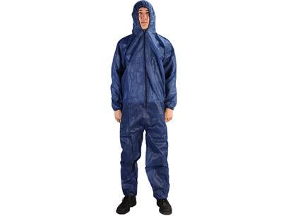 Picture of Navy Blue Polypropylene Coveralls - Zipper Front