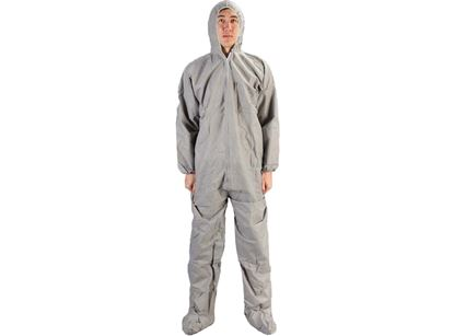 Picture of Grey SMS Coveralls with Booties