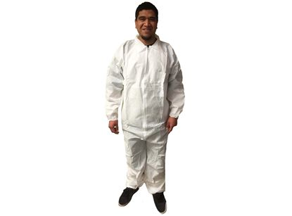 Picture of White SMS Coveralls - Elastic Wrists and Ankles