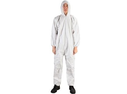 Picture of Microporous Coated Polypropylene Coveralls - Hood and Booties M-4X