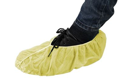 Picture of Yellow Polyropylene Shoe Covers - Non Skid Bottom