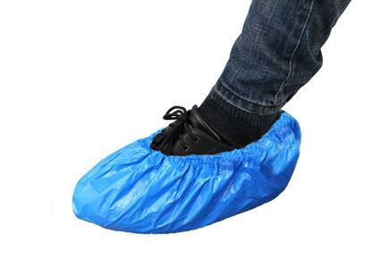 Picture of Blue PE Coated Polypropylene Shoe Covers - Large