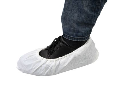 Picture of White PE Coated Polypropylene Shoe Covers, 100/bag [size: XL]