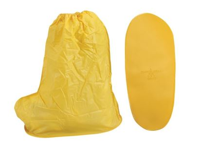 Picture of Yellow PVC Shoe Covers - Over the Shoe 15 Inches