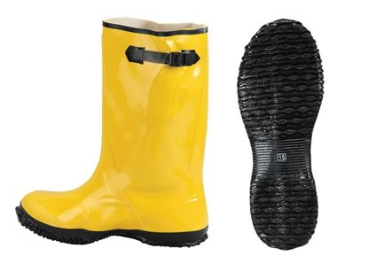 Picture of Yellow Rubber Slush Boots - Over the Shoe 17 Inches