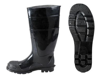 Picture of Black PVC Boots - Steel Toe Size 6 - 15