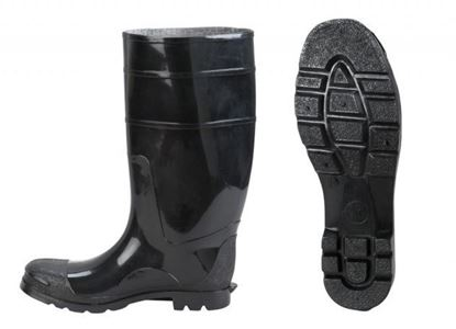 Picture of Black PVC Boots - Plain Toe Size 5 - 14
