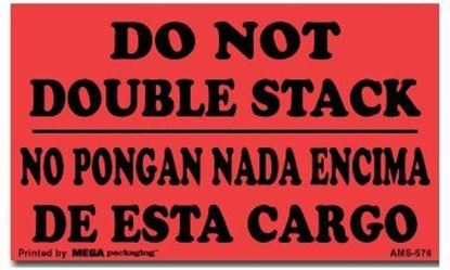 Picture of Do Not Double Stack - No Pongan Nada Encima Printed Labels