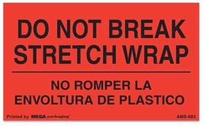 Picture of Do Not Break Stretch Wrap - No Romper La Envoltura De Plastico Printed Labels