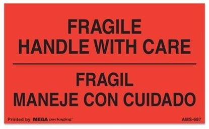 Picture of Fragile Handle With Care Fragil Maneje Con Cuidado Printed Labels
