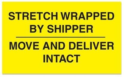Picture of Stretch Wrapped By Shipper - Printed Labels