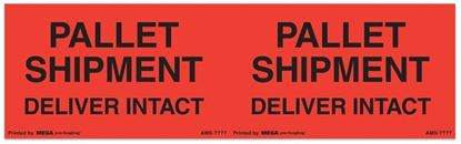 Picture of Pallet Shipment Deliver Intact - Printed Labels