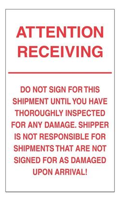 Picture of Attention Receiving - Printed Labels