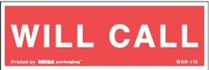 Picture of Will Call - Red Printed Labels