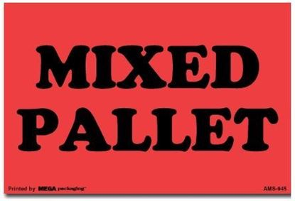 Picture of Mixed Pallet - Red Printed Labels