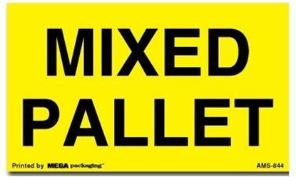 Picture of Mixed Pallet - Yellow Printed Labels
