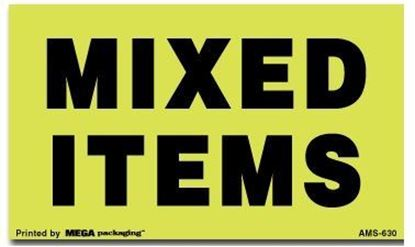 Picture of Mixed Items - Green Printed Labels