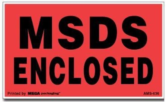 Picture of MSDS Enclosed