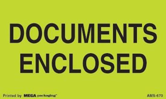 Picture of Documents Enclosed - Green