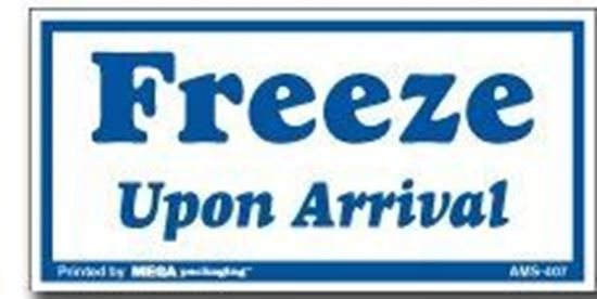 Picture of Freeze Upon Arrival - Printed Label
