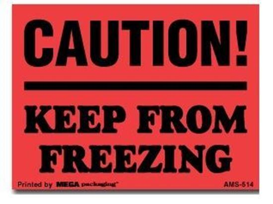 Picture of Caution! Keep From Freezing  - Printed Label