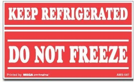Picture of Keep Refrigerated Do Not Freeze - Red Printed Label