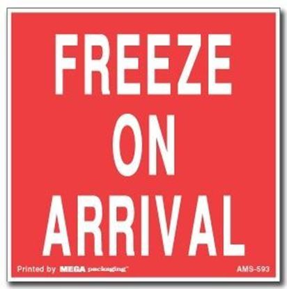 Picture of Freeze On Arrival - Red Printed Label