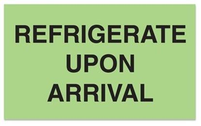 Picture of Refrigerate Upon Arrival - Green Printed Label 3 x 5