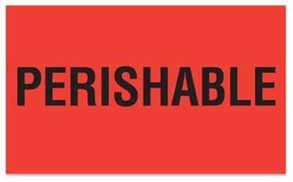 Picture of Perishable - Red Printed Label 3 x 5