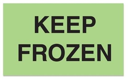 Picture of Keep Frozen - Green Printed Label