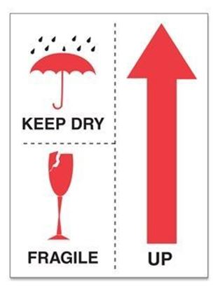 Picture of Keep Dry Fragile Up - Printed Label