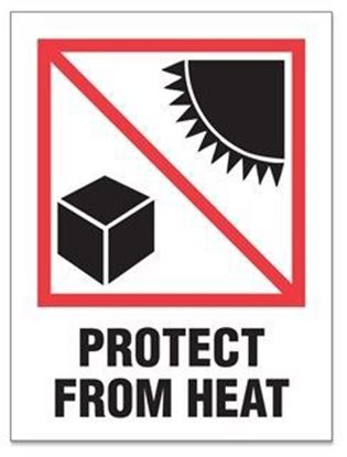 Picture of Protect From Heat - Red and Black Printed Label