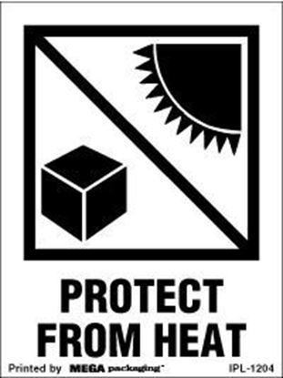 Picture of Protect From Heat - Printed Label 3 x 4